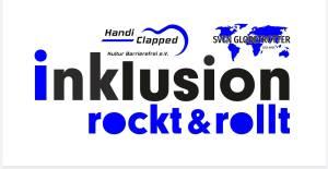 Logo für Handiclapped und Sven Globetrotter Initiative Inklusion rockt & rollt