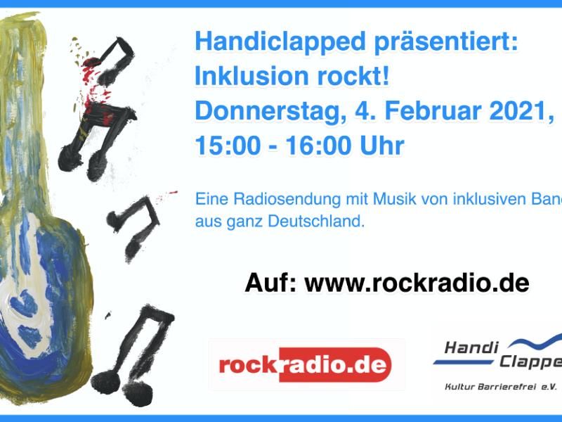 Flyer mit den Informationen, die Ihr auch im Beitragstext findet, dazu eine gemalte Gitarre und Musiknoten