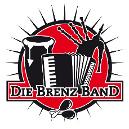 Das Logo der Brenz-Band mit Dudelsack, Akkordeon und Trommel